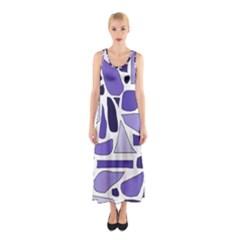 Silly Purples Full Print Maxi Dress
