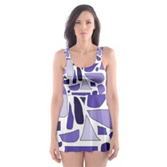 Silly Purples Skater Dress Swimsuit