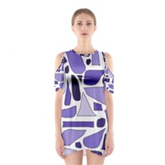 Silly Purples Cutout Shoulder Dress