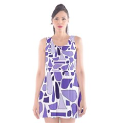 Silly Purples Scoop Neck Skater Dress