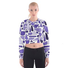Silly Purples Women s Cropped Sweatshirt