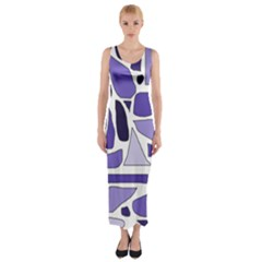 Silly Purples Fitted Maxi Dress