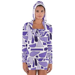 Silly Purples Women s Long Sleeve Hooded T Shirt
