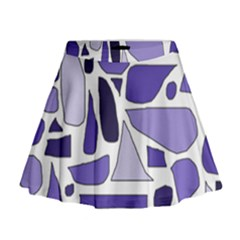 Silly Purples Mini Flare Skirt