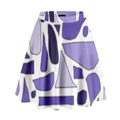 Silly Purples High Waist Skirt