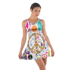 Peace Collage Racerback Dresses