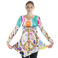 Peace Collage Long Sleeve Tunic