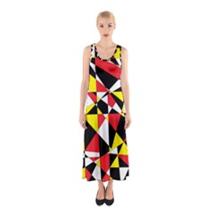 Shattered Life With Rays Of Hope Full Print Maxi Dress