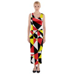 Shattered Life With Rays Of Hope Fitted Maxi Dress