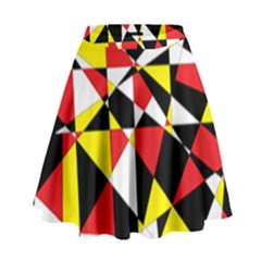 Shattered Life With Rays Of Hope High Waist Skirt