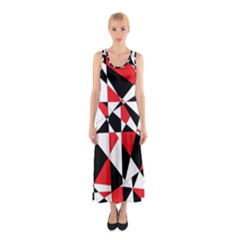 Shattered Life Tricolor Full Print Maxi Dress