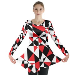Shattered Life Tricolor Long Sleeve Tunic