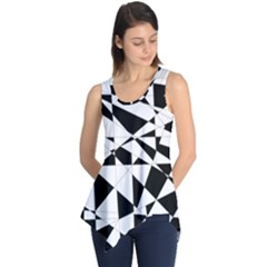 Shattered Life In Black & White Sleeveless Tunic