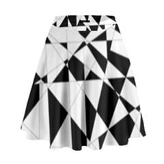 Shattered Life In Black & White High Waist Skirt