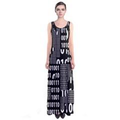 Beautiful Binary Full Print Maxi Dress