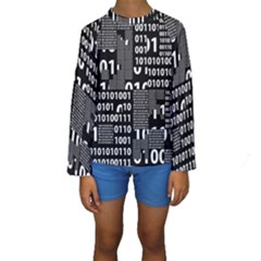 Beautiful Binary Kid s Long Sleeve Swimwear