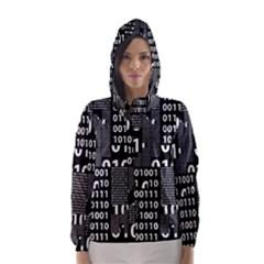 Beautiful Binary Hooded Wind Breaker (women)