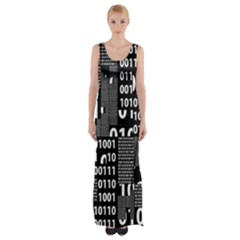 Beautiful Binary Maxi Thigh Split Dress