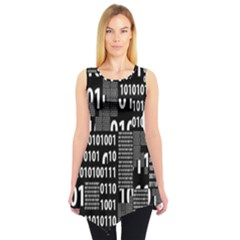 Beautiful Binary Sleeveless Tunic