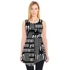 Beautiful Binary Sleeveless Tunic