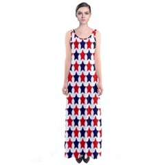 Patriot Stars Full Print Maxi Dress
