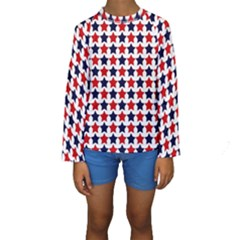 Patriot Stars Kid s Long Sleeve Swimwear