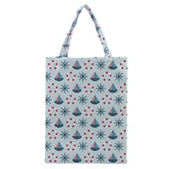 Nautical Elements Pattern Classic Tote Bag