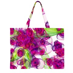 Violet Zipper Large Tote Bag
