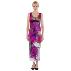 Violet Fitted Maxi Dress