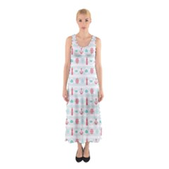 Seamless Nautical Pattern Full Print Maxi Dress