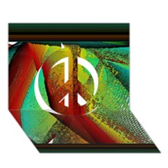 Stained Glass Window Peace Sign 3d Greeting Card (7x5)