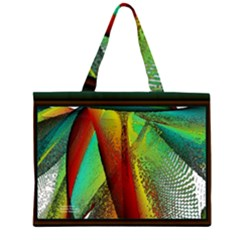 Stained Glass Window Zipper Large Tote Bag