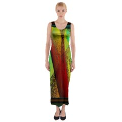Stained Glass Window Fitted Maxi Dress