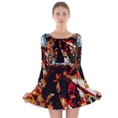 China Girl  Long Sleeve Velvet Skater Dress