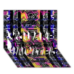 Urban Tribal Stripes You Are Invited 3d Greeting Card (7x5)