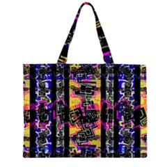 Urban Tribal Stripes Large Tote Bag