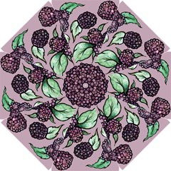 Black Raspberry Fruit Purple Pattern Golf Umbrellas