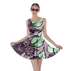 Black Raspberry Fruit Purple Pattern Skater Dress