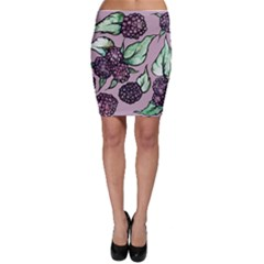 Black Raspberry Fruit Purple Pattern Bodycon Skirts