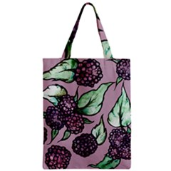 Black Raspberry Fruit Purple Pattern Zipper Classic Tote Bag
