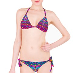Freedom Peace Flowers Raining In Rainbows Bikini Set