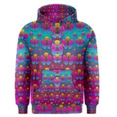 Freedom Peace Flowers Raining In Rainbows Men s Pullover Hoodie