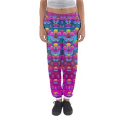 Freedom Peace Flowers Raining In Rainbows Women s Jogger Sweatpants