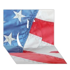 Folded American Flag Apple 3d Greeting Card (7x5)