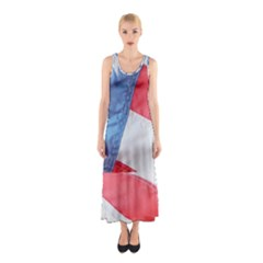 Folded American Flag Full Print Maxi Dress