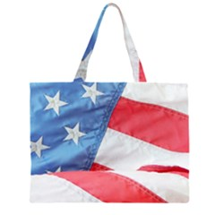 Folded American Flag Large Tote Bag