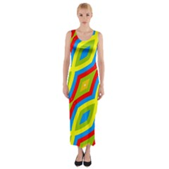 Colorful chains                    Fitted Maxi Dress