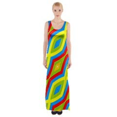 Colorful chains                    Maxi Thigh Split Dress