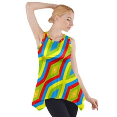 Colorful chains                    Side Drop Tank Tunic