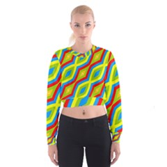 Colorful chains                      Women s Cropped Sweatshirt